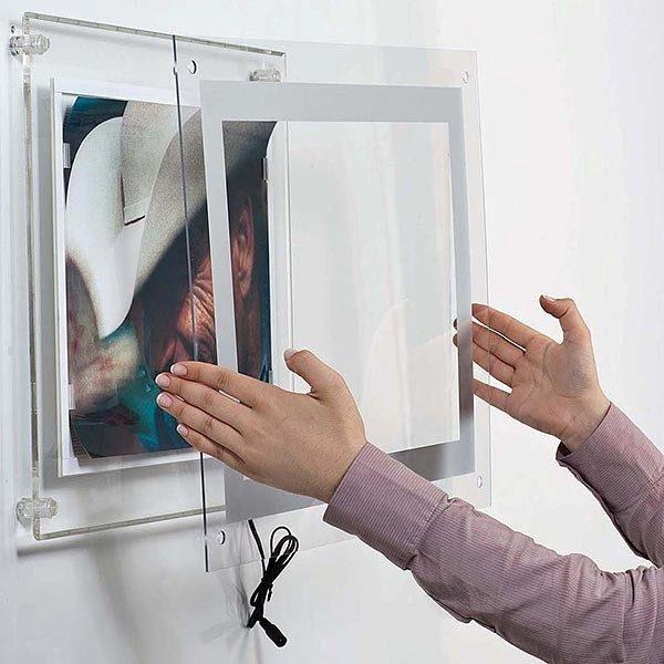 AcryLED Leuchtrahmen einseitig DIN A4 Postermaß 7