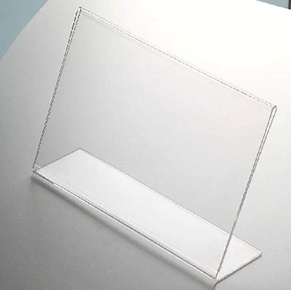 Acryl L Aufsteller DIN A6 Querformat VPE 30 Stück 2