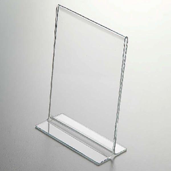 Acryl T Aufsteller DIN A4 Hochformat VPE 40 Stück 2