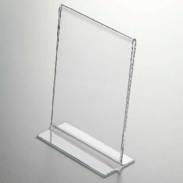 Acryl T Aufsteller DIN A6 Hochformat VPE 40 Stück 2