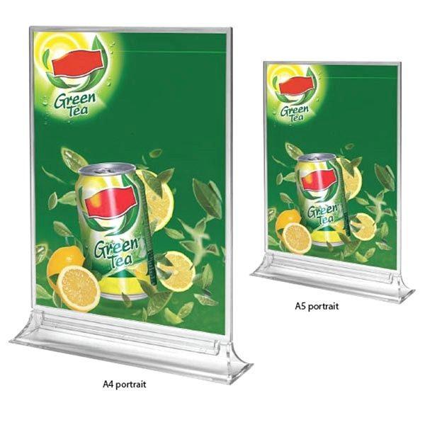 Acryl T Aufsteller Premium DIN A4 Hochformat VPE 25 Stück 1