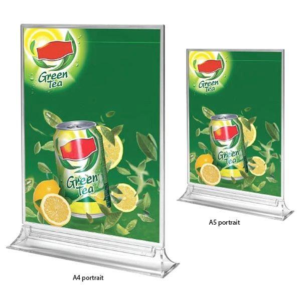 Acryl T Aufsteller Premium DIN A5 Hochformat VPE 25 Stück 1