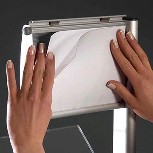 Boden Prospektständer Zick Zack mit Topschild 6 x DIN A4 4