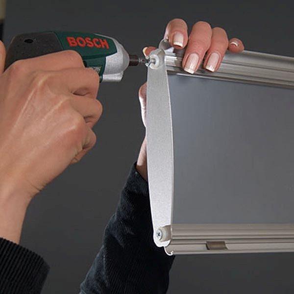 Boden Prospektständer Zick Zack mit Topschild 6 x DIN A4 5