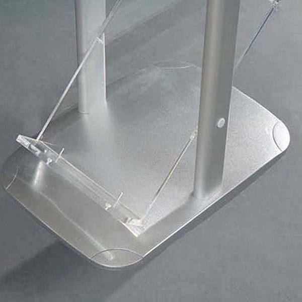 Boden Prospektständer Zick Zack zweibeinig 6 x DIN A4 4