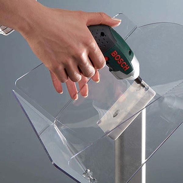 Dekorativer Prospektständer Hochformat DIN A4 Postermaß 2