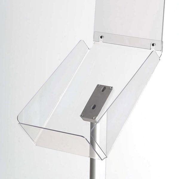Dekorativer Prospektständer Plus Hochformat DIN A4 Postermaß 2