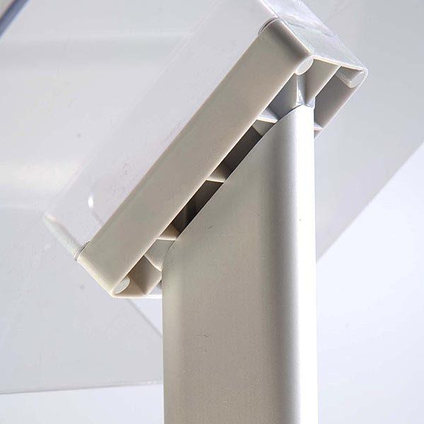 Dekorativer Prospektständer Plus Hochformat DIN A4 Postermaß 4
