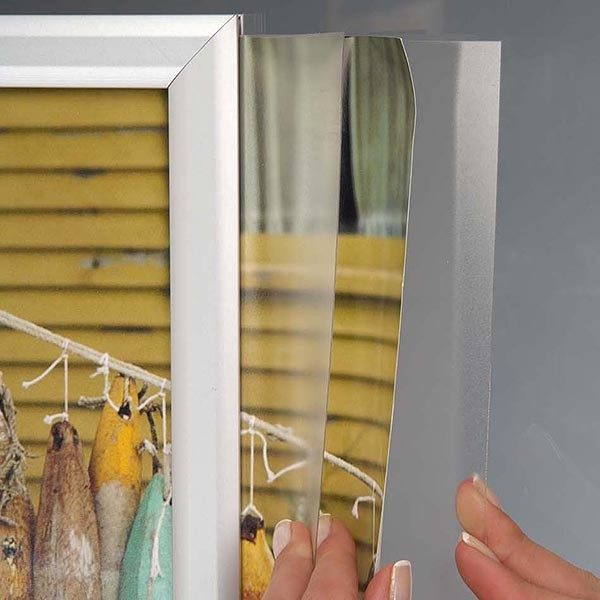 Doppelseitiger Einschubrahmen Querformat DIN A3 Postermaß 2