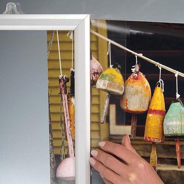 Doppelseitiger Einschubrahmen Querformat DIN B2 Postermaß 1