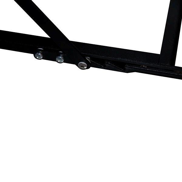 Falt Prospektständer Acryl schwarz 6 x DIN A5 inkl. Alu Transportkoffer schwarz 1