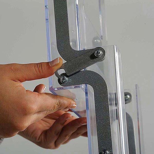 Falt Prospektständer Neu 5 x DIN A4 4