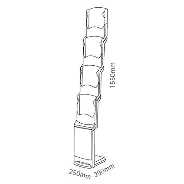Falt Prospektständer RealZip 4 x DIN A4 inkl. Transporttasche 5