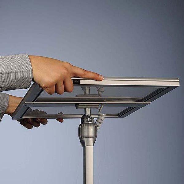 Flexibler LED Infoständer schwarz DIN A4 Postermaß 10