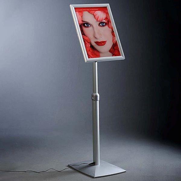 Flexibler LED Infoständer silber DIN A3 Postermaß 1