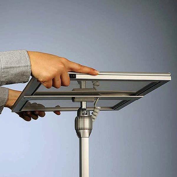 Flexibler LED Infoständer silber DIN A3 Postermaß 10