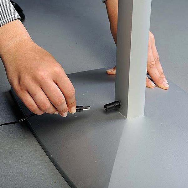 Flexibler LED Infoständer silber DIN A3 Postermaß 3
