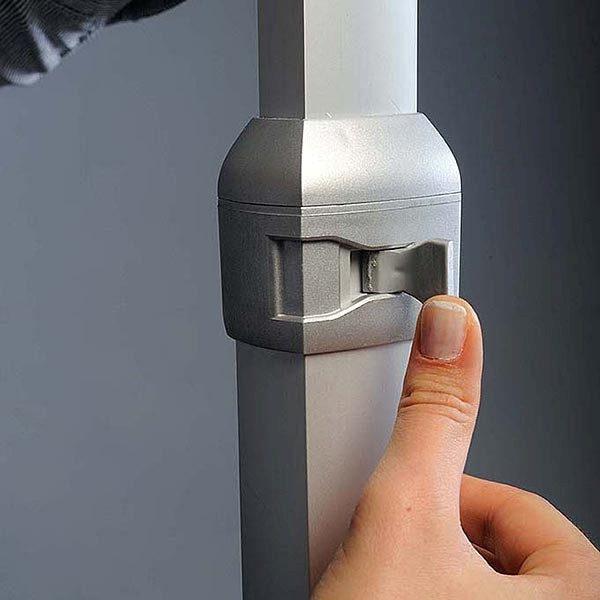 Flexibler LED Infoständer silber DIN A3 Postermaß 4