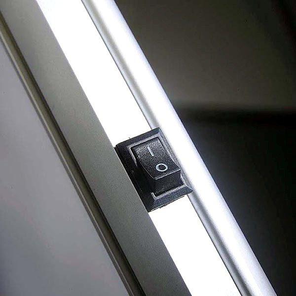 Flexibler LED Infoständer silber DIN A3 Postermaß 6