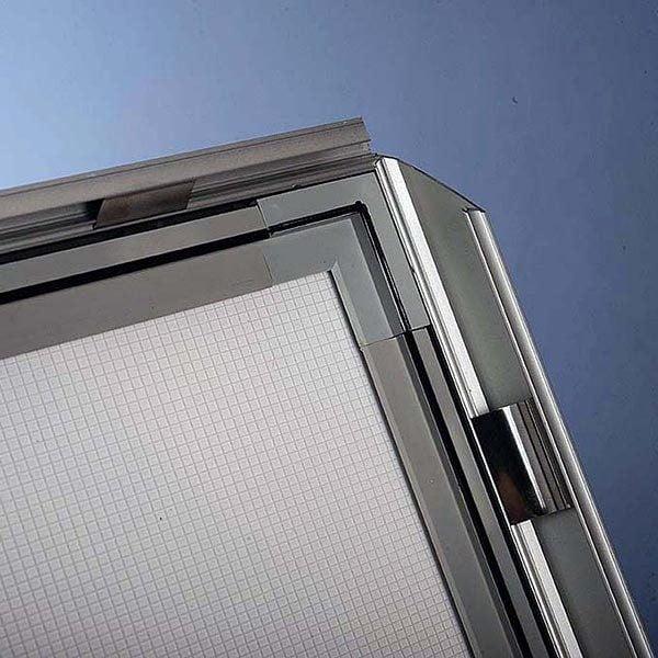 Flexibler LED Infoständer silber DIN A3 Postermaß 8