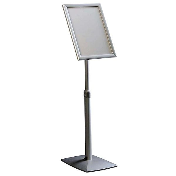 Flexibler LED Infoständer silber DIN A4 Postermaß 2