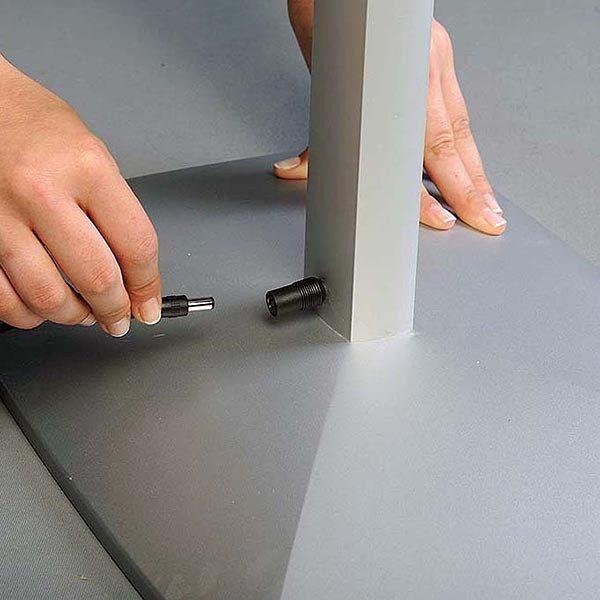 Flexibler LED Infoständer silber DIN A4 Postermaß 3
