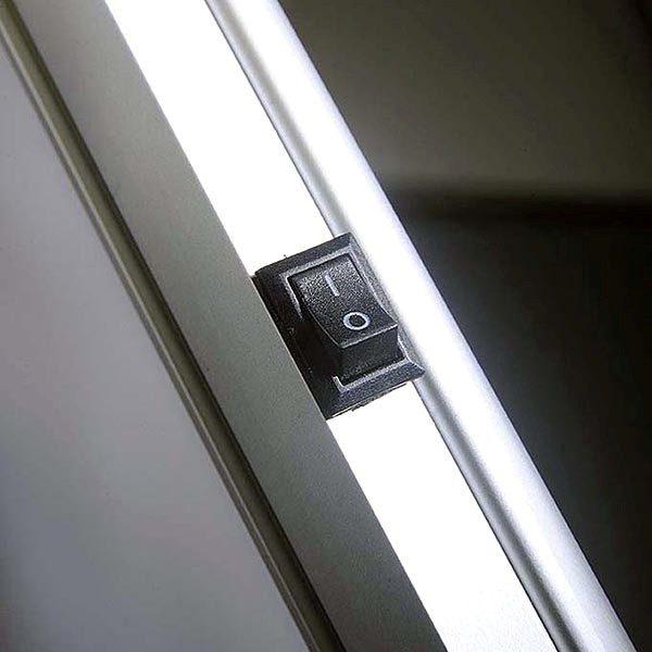 Flexibler LED Infoständer silber DIN A4 Postermaß 6
