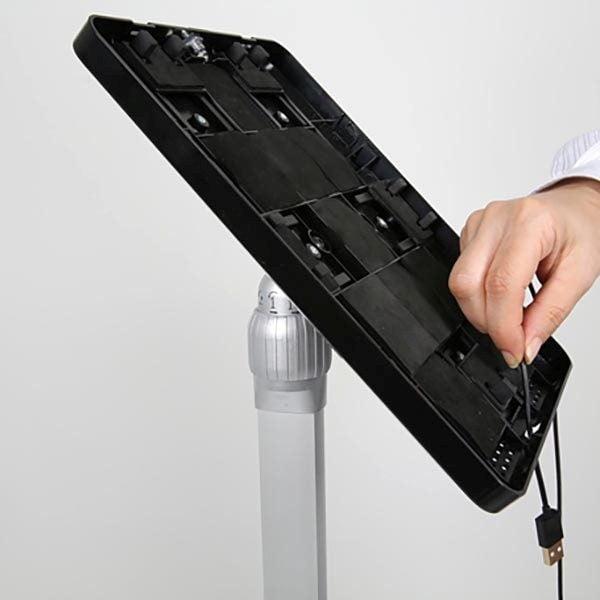 """Flexibler Tablet Infoständer mit verstellbarer Höhe schwarz für iPad 1 2 3 4 Air Samsung Galaxy und 9.7"""" 10.1"""" Tablets 4"""