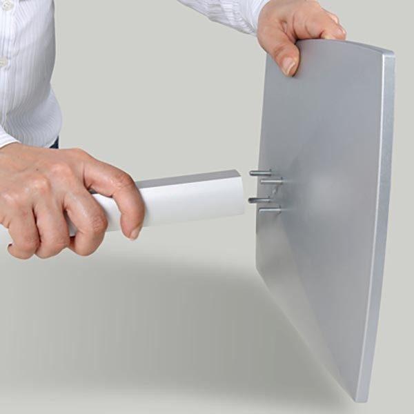 """Flexibler Tablet Infoständer mit verstellbarer Höhe schwarz für iPad 1 2 3 4 Air Samsung Galaxy und 9.7"""" 10.1"""" Tablets 7"""