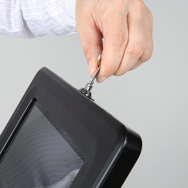 """Flexibler Tablet Infoständer mit verstellbarer Höhe schwarz für iPad 1 2 3 4 Air Samsung Galaxy und 9.7"""" 10.1"""" Tablets 9"""
