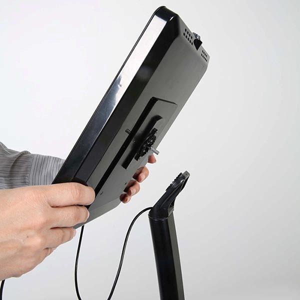 """Gewölbter Tablet Infoständer schwarz für iPad 1 2 3 4 Air Samsung Galaxy und 9.7"""" 10.1"""" Tablets 4"""