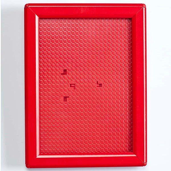 Klapprahmen Opti Frame Rot DIN A6 Postermaß br mit Rückenstütze 1