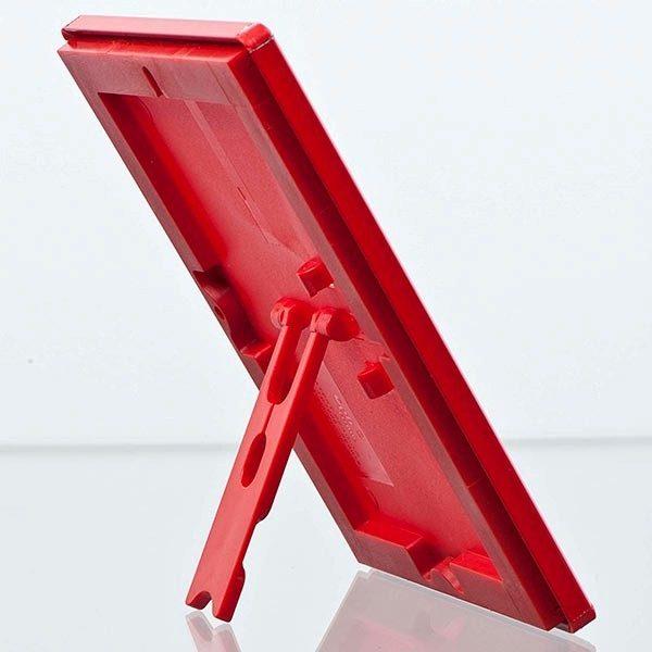 Klapprahmen Opti Frame Rot DIN A6 Postermaß br mit Rückenstütze 3
