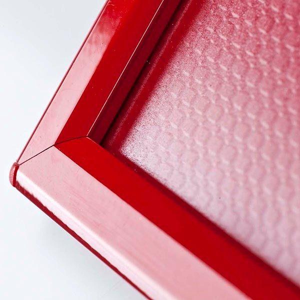 Klapprahmen Opti Frame Rot DIN A6 Postermaß br mit Rückenstütze 4