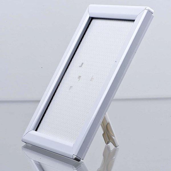 Klapprahmen Opti Frame Weiß DIN A6 Postermaß br mit Rückenstütze 1
