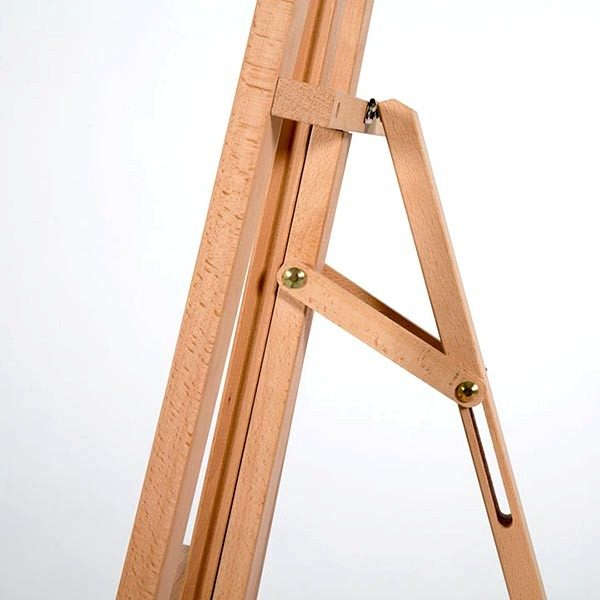 Klassische Holz Staffelei aus Buchenholz 1