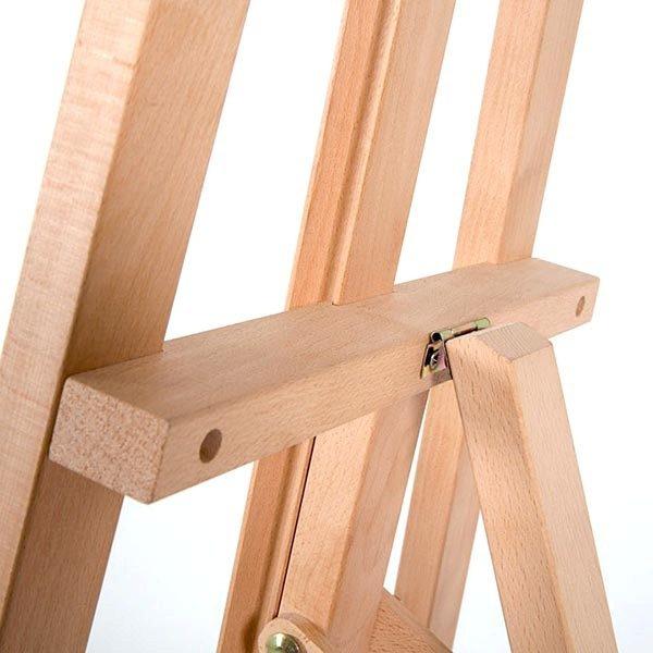 Klassische Holz Staffelei aus Buchenholz 2