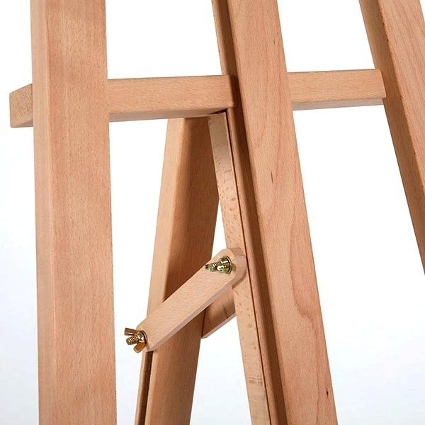 Klassische Holz Staffelei aus Buchenholz 7