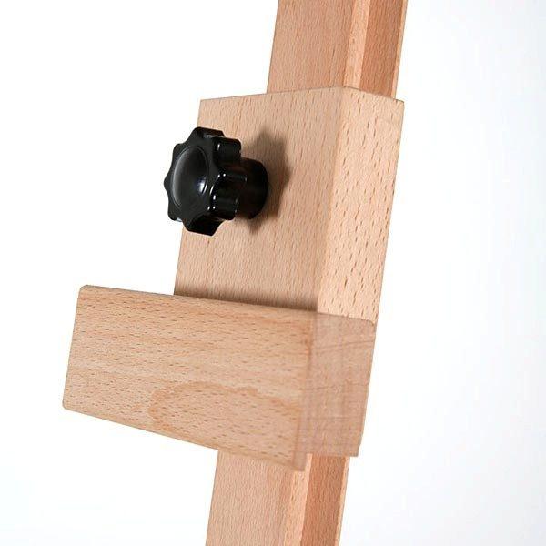 Klassische Holz Staffelei aus Buchenholz 8