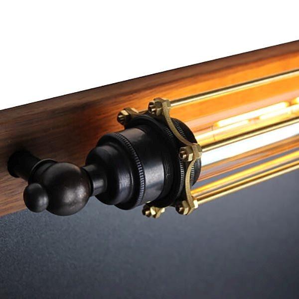 Kreidetafel Holz Noir LED 70x90 cm 2