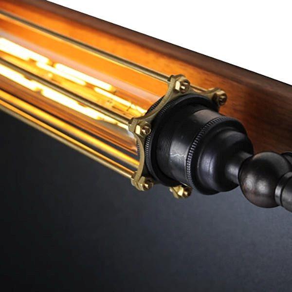 Kreidetafel Holz Noir LED 70x90 cm 4