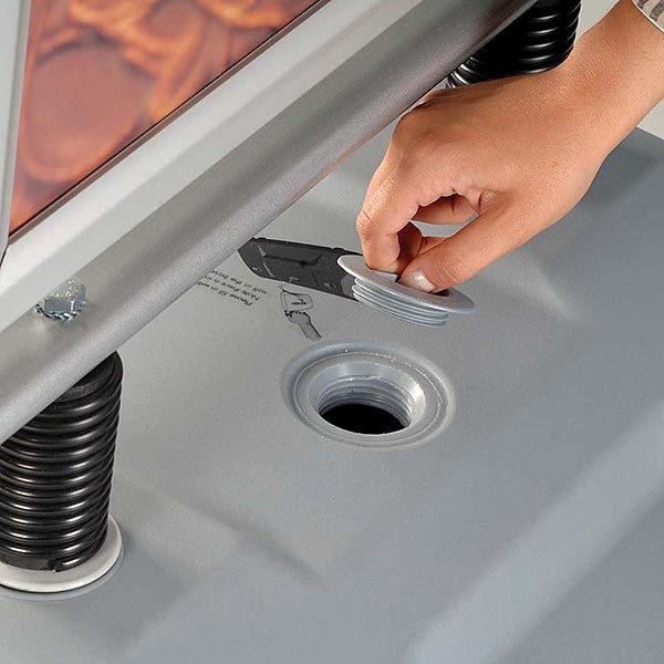 Kundenstopper Eco WindSign mit Kunststoff Fuß DIN A0 Postermaß 1