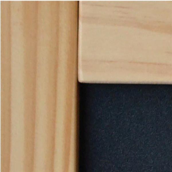 Kundenstopper Holz Buche 580 x 980 mm Schreibfläche 2