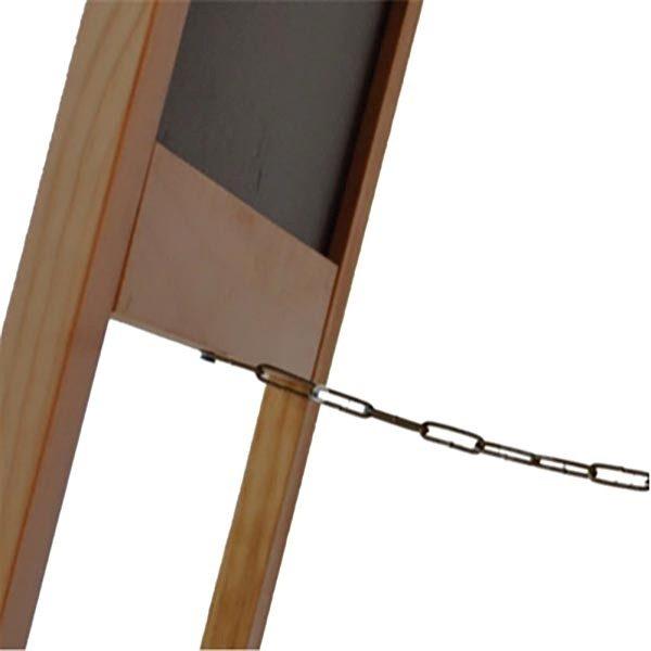 Kundenstopper Holz Buche 580 x 980 mm Schreibfläche 4