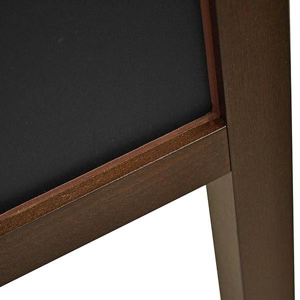 Kundenstopper Holz Buche wetterfest 520 x 650 mm Schreibfläche 2
