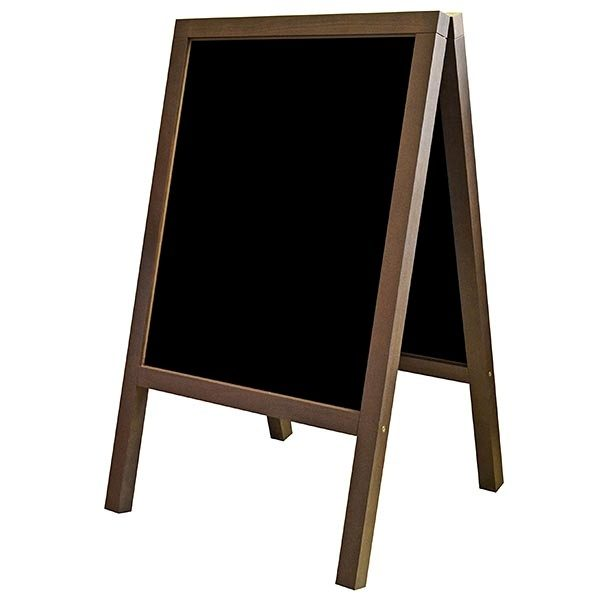 Kundenstopper Holz Buche wetterfest 520 x 650 mm Schreibfläche 3