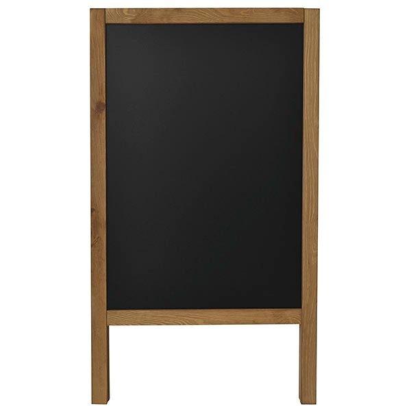 Kundenstopper Holz Kiefer 440 x 640 mm Schreibfläche 1