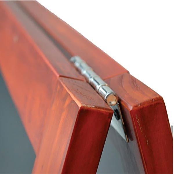 Kundenstopper Holz Mahagoni 580 x 980 mm Schreibfläche 1