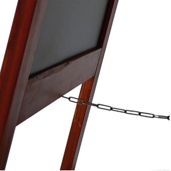 Kundenstopper Holz Mahagoni 580 x 980 mm Schreibfläche 4