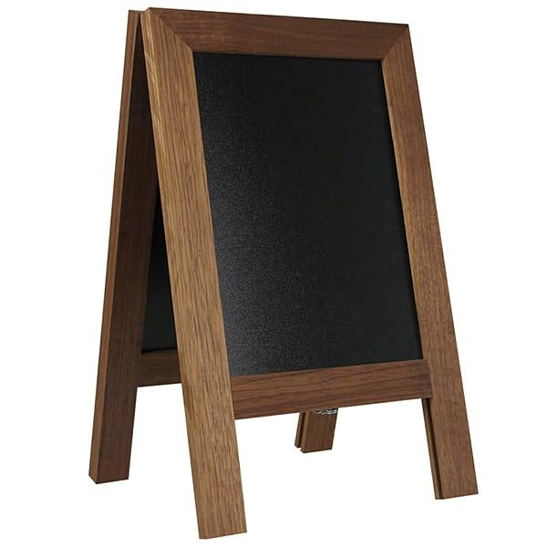 Kundenstopper Holz Mini Noir DIN A4 Tischaufsteller 1
